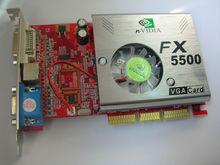 Nvidia GeForce FX5500 256MB 128-bit AGP S-video Graphics Video Card