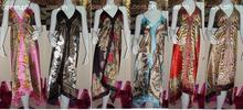 SILK ASSORTED PRINTS SCARF DRESS