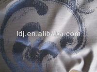 Anti-radiation printed silver fabric