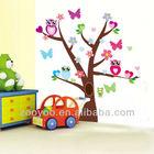 ZY1006 Owl Tree Branch Wall Mural Decals Baby Girl Nursery Kids Room Sticker Home Decor