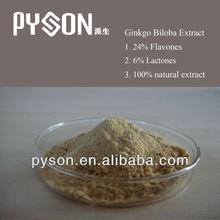 100% Natural Flavones 24%/ Terpene Lactones 6% Ginkgo Biloba P.E.