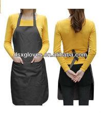 Unisex 2 Pocket Black Kitchen Apron Bib