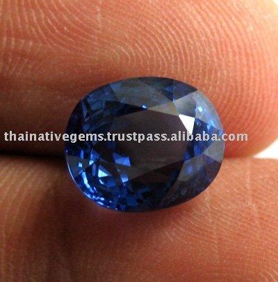 Blauer Saphir der klaren Farbe von billig 4.67 Karat von Sri Lanka!!