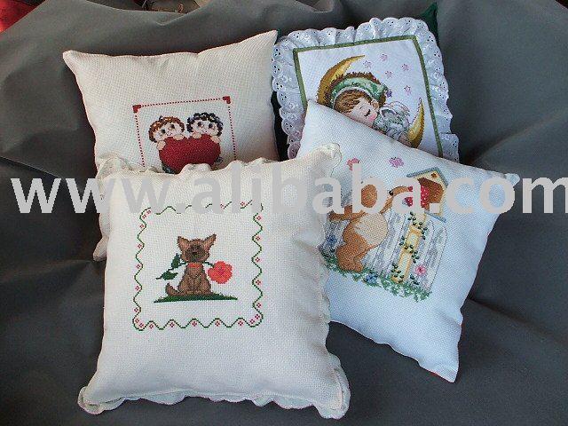 Almohadas especial/cojines hermoso con punto de cruz para el ...