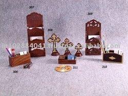 Wooden Letter Holder / Pen Stand / Shelf ~ Desk Organizer ~ Office Supply Stationery Wooden Letter Rack