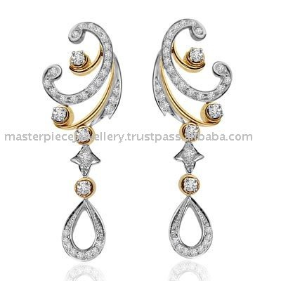 Diamond Solitaire Earrings on 18k Gold With Diamond Solitaire Earring Diamond Jewelry  Products  Buy