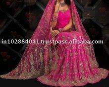 Designer Beaded Hand Embroided Bridal Lehenga/Lengha ~ Wedding Lehengas Choli ~ Bollywood Ghagra