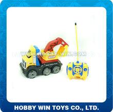 1:18 Scale 4CH Four-wheel Drive RC Tumbler Stunt Car Dark Wheel Stunt Cartoon Tractors Excavators Car