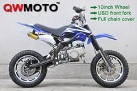 New kids blue 49CC Mini Dirt Bike for Kids Mini Motorcycle Pit Bike