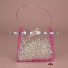 good cheap transparent plastic pvc pipe handle bag