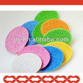redonda cosméticos esponja de celulose comprimido bloco