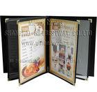 A4 leather menu covers ,digital restaurant menu