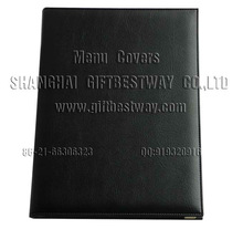 Black 8.5''X11'' restaurant menu ,hard menu covers ,leather drink menu holder