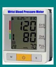 Mercury Free Irregular Heart Rate Indicator Automatic Inflation Wrist Blood Pressure Monitor