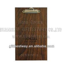 wooden menu cover ,wood menu design