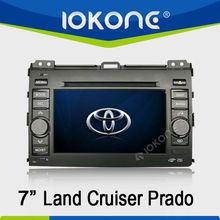 7'' HD Touch screen double din GPS navigation in dash Car DVD player for Toyota Land Cruiser Prado