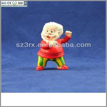Mini figurine cartoon Santa Claus toy for Christmas Day