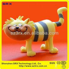 Funny plastic figurine,OEM PVC Cartoon cat Toy,Wholesale collectible custom OEM PVC figurines