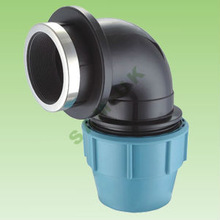 PP compression fitting - Female Elbow