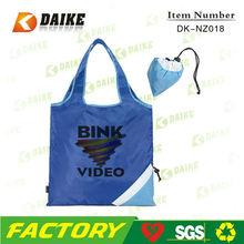 Nylon Eco Custom Reusable folding shopping tote bag DK-NZ018