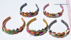 Color Ethnic Hair Headbands Lady Accessories Figurines Women&#39;s Fashion