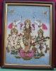 Laxmi, Parvati & Ganesh, Gem Stone Painting, Art of Jaipur