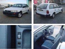 2000 Used car TOYOTA COROLLA V GL/Wagon/RHD/21230km/Gas/Petrol/White second hand automobiles