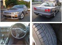 1998 second hand Used car NISSAN SKYLINE GT/Sedan/RHD/64500km/Gas/Petrol/Silver