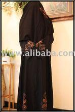 Auburn Leaf Black Abaya