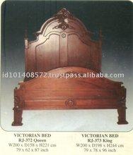 Victorian Bed Mahogany Indoor Furniture