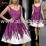 Sexy Purple Ruched Cocktail Dress