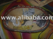 decorative painted wooden bowls