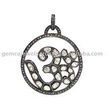 Gül kesilmiş elmas kolye takı, om kolye takı Dini, son tasarımcı kolye