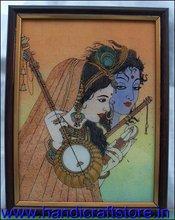 Radha & Krishna Playing with musical instrument, Gem Stone Painting