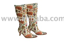 Silk Hand Embroidered Suzani Boots