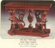 Lady Dog Console Mahogany Indoor Furniture