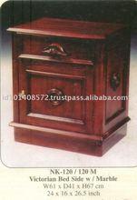 Victorian Bed Side Mahogany Indoor Furniture.
