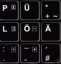 Tastaturaufkleber Deutsch Keyboard labels German