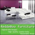 Modernes meubles hôtel, meubles en cuir bleu marine, cuir d'autruche furniture#2990