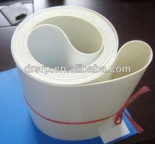 White smooth pvc conveyor belt