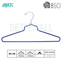 WL146 pvc coated chrome decorative metal hanger