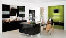 Black Color Modern Kitchens With Island DJ-K293
