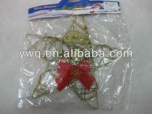 Blank STAR Shape Christmas Garland for Christmas Tree Decoration Seasonal Supplies