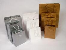 Rope handles paper bags - plain or logo printed