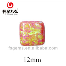 2GC03044A Square Round Corner Cabochon Synthetic Opal Stone For Silver Jewelry