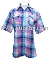 woman blouse short sleeve shirt lady