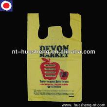 Yellow plastic shopping bag