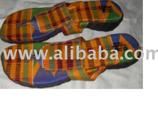 kente slippers