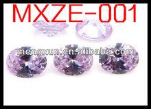 2013 special design fashion ellipse 2*3 purple zircon
