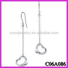 Coco jewelry Europe fashion earing jewellery fashion heart eardrop